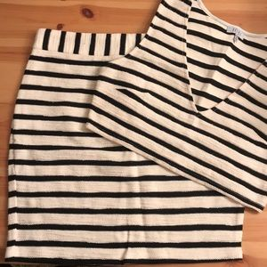 Black & White Striped Set